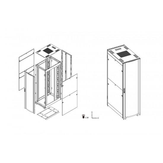 Flat Pack Server Cabinet 27U 600W X 1000D