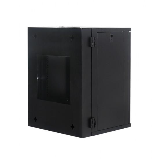 Wall Mount Cabinet 15U655 Swing Fully Built - Heavy Duty