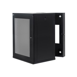 Wall Mount Cabinet 15U655 Swing Fully Built - Heavy Duty