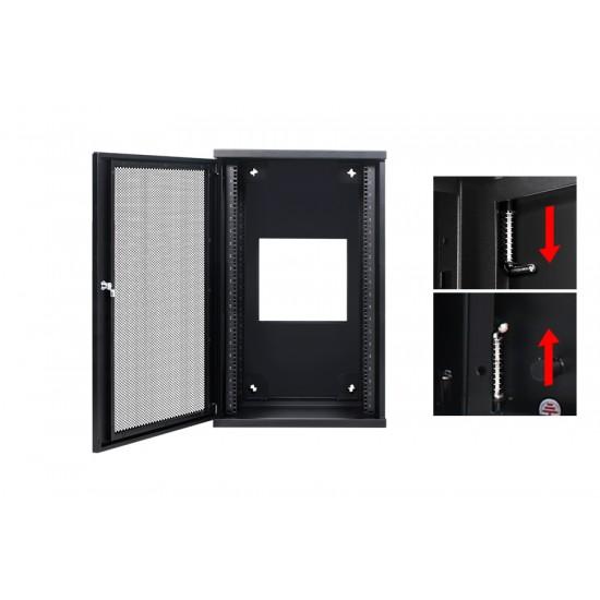 Wall Mount Cabinet 18U655 Swing Fully Built - Heavy Duty
