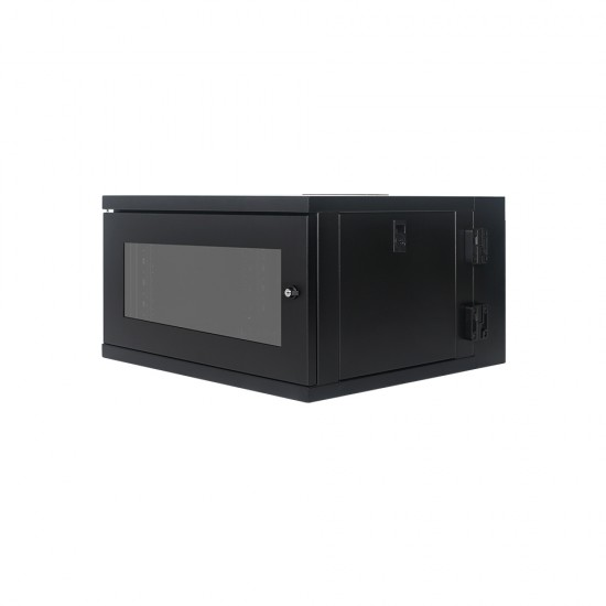 Wall Mount Cabinet 6U655 Swing Fully Built - Heavy Duty