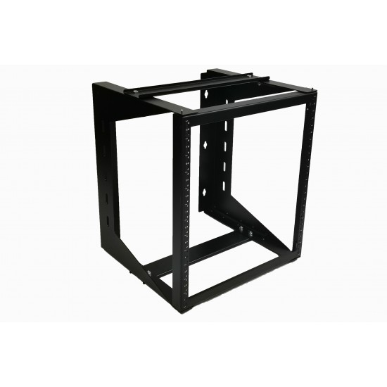 "12U Wall Mount IT Open Frame Swing Gate Network Rack Hinged Black 19"" - SharkRack"