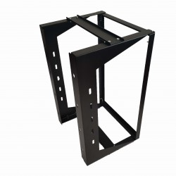 "18U Wall Mount IT Open Frame Swing Gate Network Rack Hinged Black 19"" - SharkRack"