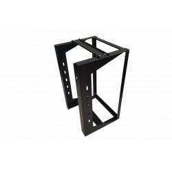 "18U Wall Mount IT Open Frame Swing Gate Network Rack Hinged Black 19"" - SharkRack"
