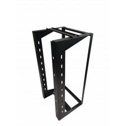 "24U Wall Mount IT Open Frame Swing Gate Network Rack Hinged Black 19"" - SharkRack"