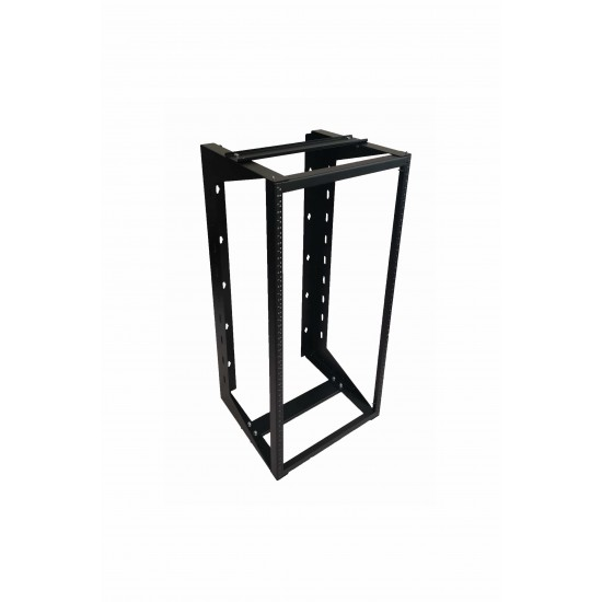 "24U Wall Mount IT Open Frame Swing Gate Network Rack Hinged Black 19"" - SharkRack"