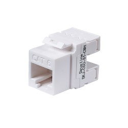 Cat6 Unshielded Module White