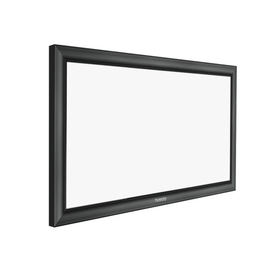 "Fixed Projector Screen 133"" 16:9 (Gray soft)"